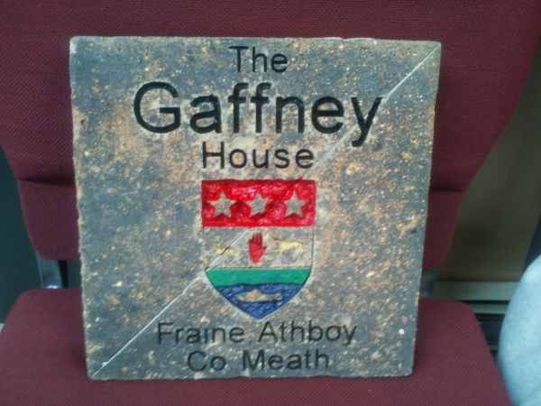 The Gaffney House is a coat of arms that went overseas to Ireland