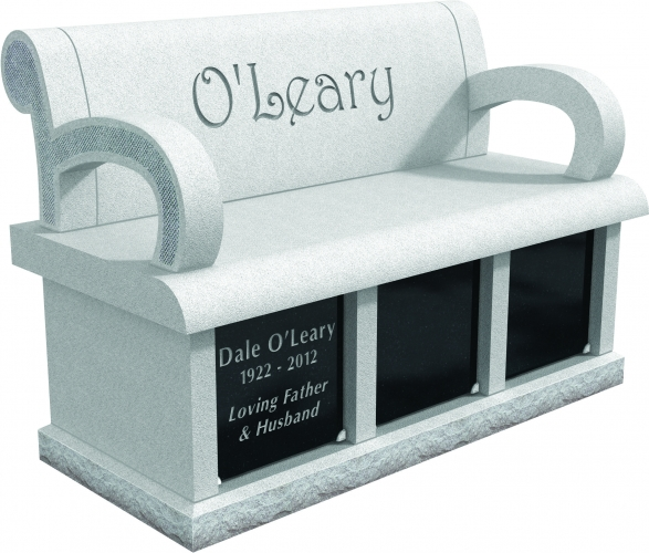 Columbariums Around Westbury NY - Supreme Memorials - 12011_Columbarium_Bench_CMYK